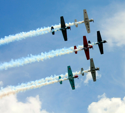 Aerobatic Displays at Silverstone